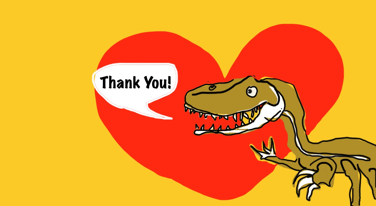 picture 6.a thank you dinosaur